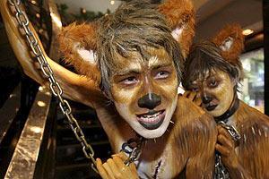 Экологи в звериных масках напомнят Януковичу о заповедниках