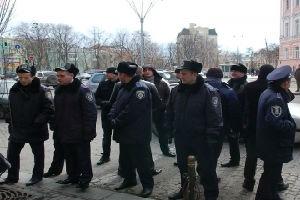Съезд Партии регионов охраняют снайперы