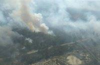 Площу лісової пожежі в Чорнобильській зоні вдалося зменшити до 6 гектарів (оновлено)