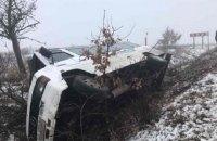 В Закарпатской области перевернулся автобус с пассажирами