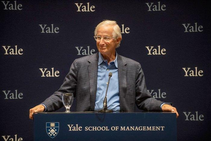 Профессор Уильям Нордхаус во время пресс-конференции в Йельском университете, США, 08 октября 2018.