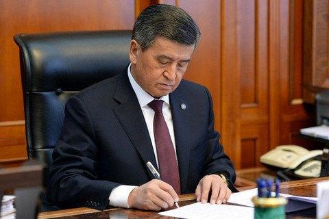 УКиргизстані президент відправив уряд у відставку після рішення парламенту про недовіру
