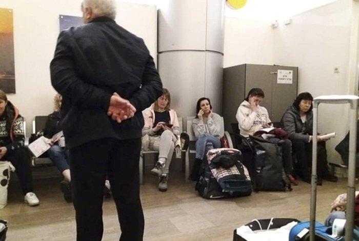 Украинские туристы в аэропорту Бен-Гурион
