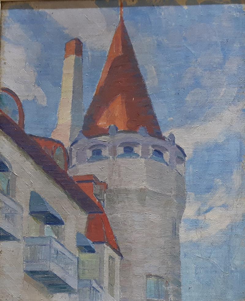О.Богомазов «Башта» (приватна колекція, 1911)