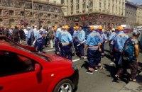 Звільнені паркувальники перекрили Хрещатик у Києві