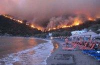 Число жертв лесных пожаров в Греции возросло до 74