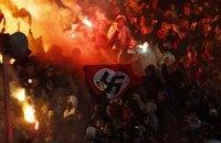 """Фаны """"Спартака"""" пронесли свастику на стадион и едва не сожгли Ярославль"""