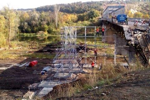 Боевики не выполняют обязательства по ремонту моста в Станице Луганской