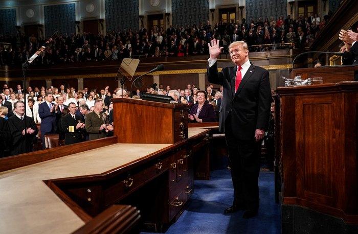 Выступление Трампа перед Конгрессом, 5 февраля 2019.