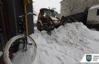 На Львовщине выпал почти метр снега