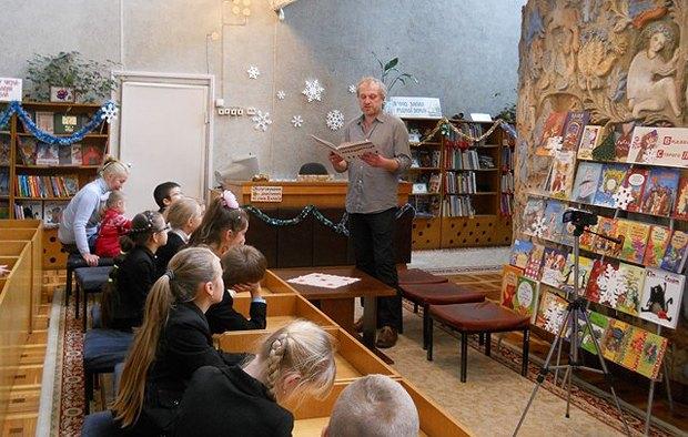 Встреча с писателем Прохаськом в Национальной библиотеке Украины
