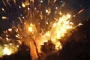 В Донецкой области взорвались склады с пиротехникой