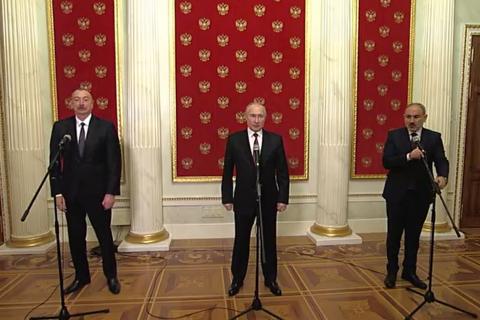 Алієв, Пашинян та Путін підписали заяву щодо розвитку Нагірного Карабаху
