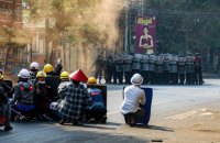В Мьянме во время митингов против военного переворота убиты 38 человек