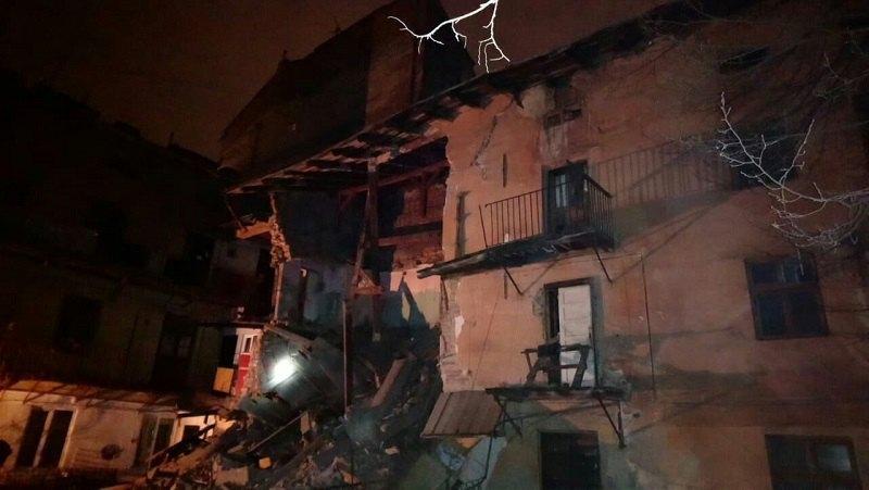 Обрушение дома во Львове