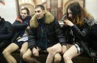 """Московская полиция разыскивает участников флешмоба """"В метро без штанов"""""""