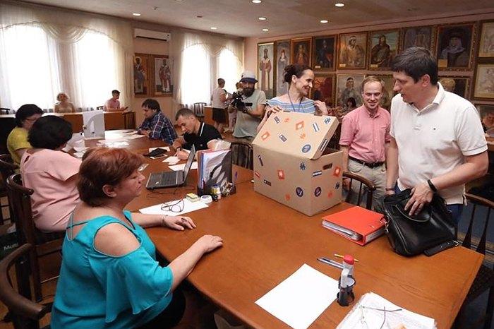Партия 'Голос' подает документы в ЦИК