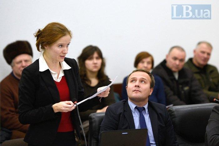 Виступ Закревської в суді
