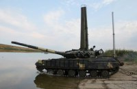 На полигоне в Николаевской области танкисты провели подводные учения