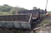 В Харьковской области пустые грузовые вагоны врезались в пассажирский поезд