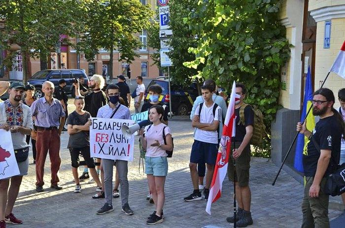 Світлана під час акції в Києві