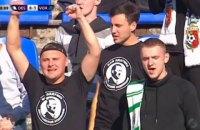 """Фаны """"Ворсклы"""" пришли на матч в футболках с Гитлером и надписью """"Мой дедушка - австрийский художник"""""""