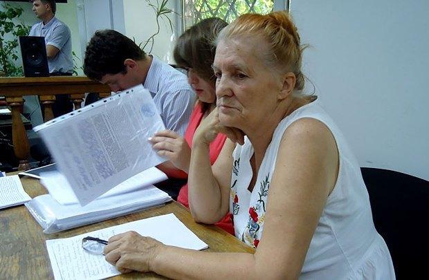 Раиса Радченко во время заседания суда