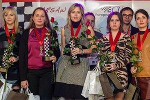 Украинские шахматистки-триумфаторы привезли домой по ферзю и коню