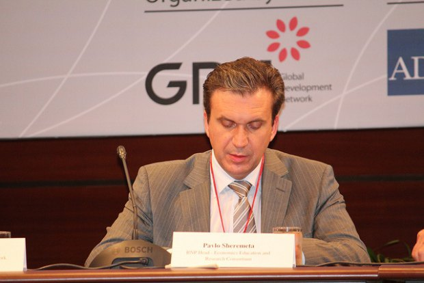 Руководитель Киевской школы экономики Павло Шеремета на GDN Conference