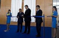 Янукович открыл обновленный аэропорт в Донецке