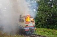 У Вінницькій області під час руху загорівся локомотив приміської електрички