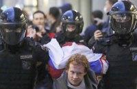 У Москві затримали понад 140 людей на акціях за Росію без Путіна