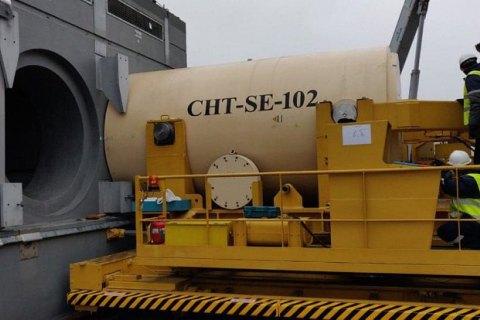 В новое Чернобыльское хранилище поместили первый контейнер с ядерными отходами