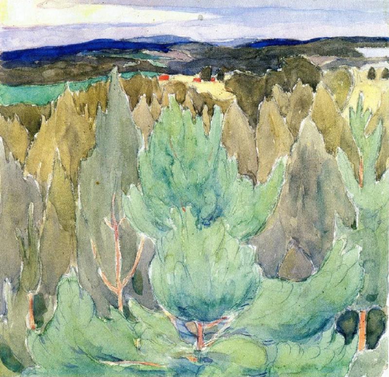О.Богомазов «Пейзаж із соснами» (колекція Григоришина, 1911)