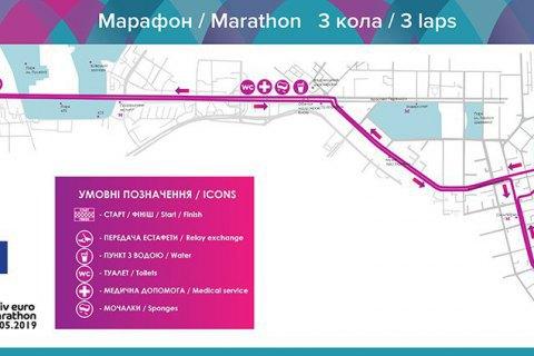 КМДА у неділю перекриє пів-Києва для марафонського забігу