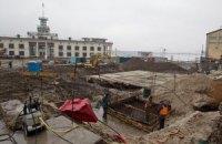 Давньокиївську вулицю на Поштовій площі засипали землею