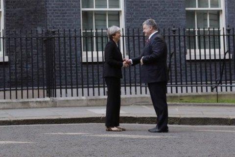 Мэй предложила Порошенко участие Великобритании  вукраинских реформах