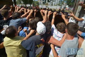 Милиция Киева заявила о законности застройки сквера на Березняках