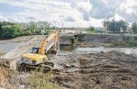 На Тернопільщині почали капремонт моста через Серет, який обвалився в лютому минулого року