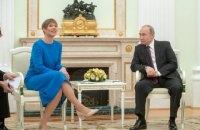 Президент Естонії в Москві поговорила з Путіним про Україну