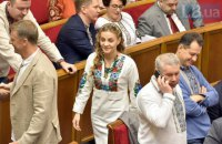 Депутати прийшли до Верховної Ради у вишиванках