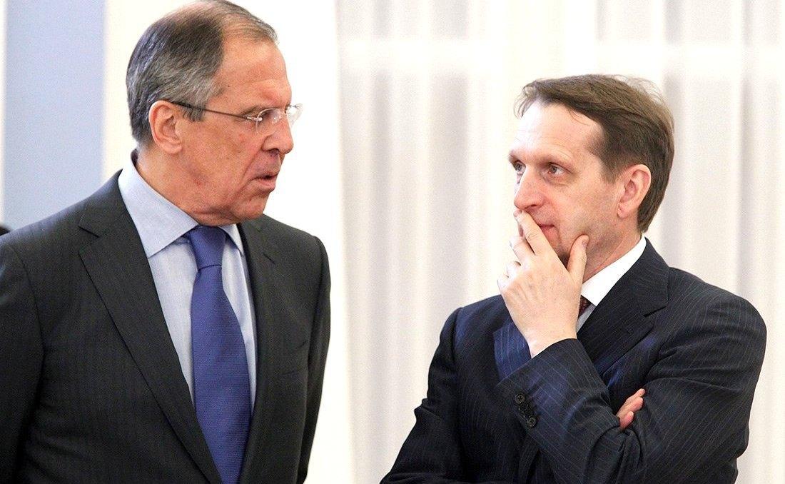 Сергій Лавров і Сергій Наришкін