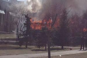 На Троєщині згорів ресторан