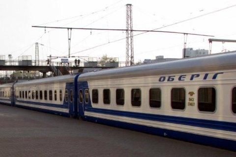 Локомотив фирменного поезда Киев - Харьков загорелся на ходу