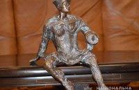 Полицейские нашли украденный символ Луцка - бронзовую скульптуру Кликуна