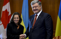 Порошенко и Фриланд скоординировали подходы по миссии ООН на Донбассе