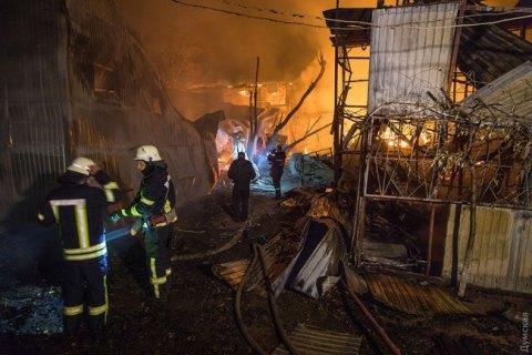 В Одессе сгорел клуб спортивной рыбалки