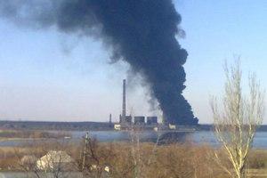 В Донецкой области произошел пожар на крупной ТЭС