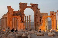 В Лондоне установили копию Триумфальной арки Пальмиры, разрушенной ИГИЛ