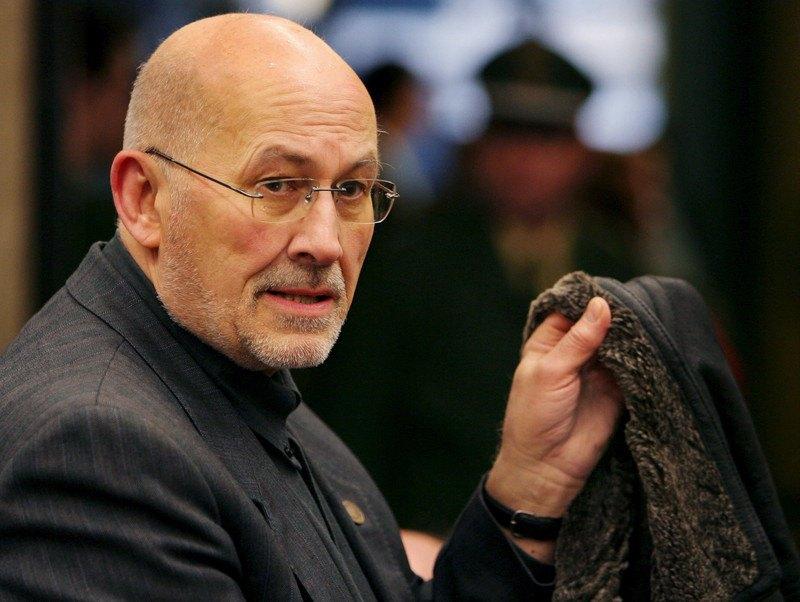 Хорст Малер во время заседания окружного суда Мангейма, Германия, 9 февраля 2006 г.